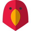 bird, zoo, parrot, Animals, Wild Life, Animal Kingdom Crimson icon