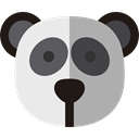 panda, zoo, Animals, Wild Life, Animal Kingdom DarkGray icon
