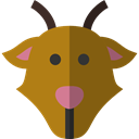 mammal, Farming, wildlife, Animal Kingdom, goat, zoo, Animals DarkGoldenrod icon