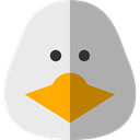 bird, Duck, Animals, Wild Life DarkGray icon