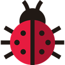 bug, insect, Animals, ladybug, Animal Kingdom Black icon