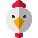 Animals, Farm, hen, Animal Kingdom, bird Black icon