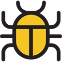 insect, Animals, malware, computing, Computer, security, bug Black icon