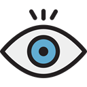 view, medical, interface, Eye, visible, Visibility, Healthcare And Medical Black icon