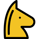 Game, knight, chess, strategy, miscellaneous, horse, sports, piece, Sports And Competition Goldenrod icon