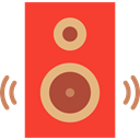music, sound, speaker, medical, Audio, loudspeaker, speakers, subwoofer, woofer, Music And Multimedia Tomato icon