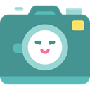 electronics, photograph, photo camera, picture, interface, digital, technology CadetBlue icon