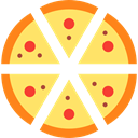 food, Pizza, Fast food, sliced, Italian Food, Food And Restaurant Khaki icon