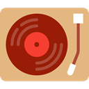 Record Player, Music And Multimedia, lp, vinyl, technology, turntable, music, music player BurlyWood icon
