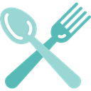 Fork, Knife, Restaurant, Cutlery, Tools And Utensils, Food And Restaurant Black icon
