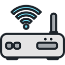 technology, electronics, networking, internet, Connection, Modem, wireless, wi-fi DarkSlateGray icon