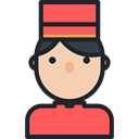 profile, Avatar, Social, Bellboy, Professions And Jobs, user DarkSlateGray icon