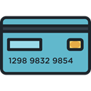 card, Money, credit, Credit card, payment, Business And Finance MediumTurquoise icon