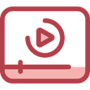 Streaming, video player, video play, Multimedia Option, Multimedia Player, Music And Multimedia, Play button, technology Sienna icon