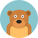 bear, zoo, Animals, mammal, Wild Life, Animal Kingdom SkyBlue icon