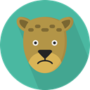 zoo, Animals, Wild Life, Cheetah, Animal Kingdom CadetBlue icon