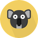 Animals, wildlife, Animal Kingdom, zoo, koala SandyBrown icon