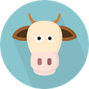 zoo, cow, Animals, Farming, Wild Life, Animal Kingdom SkyBlue icon