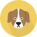 dog, pet, Animals, Breed SandyBrown icon