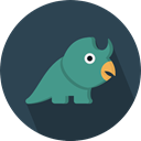 Herbivore, Animals, dinosaur, Wild Life, Extinct DarkSlateGray icon