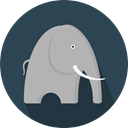 elephant, Animal Kingdom, zoo, Animals, mammal, Wild Life DarkSlateGray icon