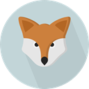 Fox, zoo, Animals, wildlife, Animal Kingdom LightGray icon