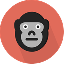 wildlife, Animal Kingdom, zoo, Animals, gorilla, mammal IndianRed icon
