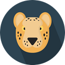 wildlife, Animal Kingdom, zoo, leopard, Animals, mammal DarkSlateGray icon