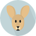 Animal, Animal Kingdom, zoo, Animals, kangaroo, Wild Life LightGray icon