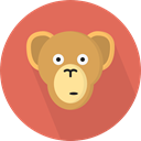 monkey, zoo, Animals, Wild Life, Animal Kingdom IndianRed icon
