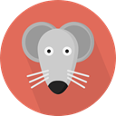 Mouse, pet, Animals, mammal, rodent, wildlife, Animal Kingdom IndianRed icon