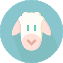 Animals, mammal, Farming, Animal Kingdom, zoo, Sheep SkyBlue icon