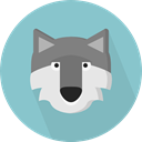 zoo, Animals, wolf, wildlife, Animal Kingdom SkyBlue icon