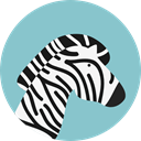 zoo, Animals, Zebra, wildlife, Animal Kingdom SkyBlue icon