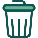 Bin, Garbage, Can, Tools And Utensils, miscellaneous, Trash, interface, Basket DarkSlateGray icon