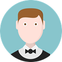 profession, Occupation, Professions And Jobs, people, user, Avatar, job, Restaurant, waiter SkyBlue icon