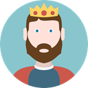 people, user, Character, king, Fairy Tale, Avatar, legend, Fantasy, Folklore SkyBlue icon