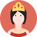 people, user, Character, Avatar, Queen, legend, Fantasy, Folklore, Fairy Tale IndianRed icon