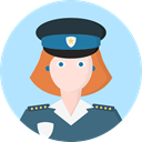 user, woman, profile, Avatar, Social, Policewoman, Professions And Jobs PaleTurquoise icon