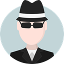 Man, Occupation, Avatar, job, spy, profession, people, Agent, user, detective LightGray icon