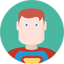 people, user, Character, Superheroe CadetBlue icon