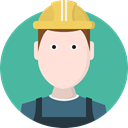 user, Avatar, job, worker, Builder, profession, Occupation, Man, people CadetBlue icon
