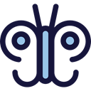 insect, butterfly, Animals, Moths MidnightBlue icon