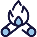 miscellaneous, hot, Burn, Flame, nature, Bonfire, Camping, campfire MidnightBlue icon