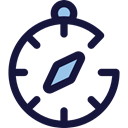 compass, Orientation, location, Direction, Tools And Utensils, Cardinal Points, Maps And Location MidnightBlue icon