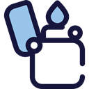 Flaming, fuel, petrol, gasoline, Tools And Utensils, miscellaneous, lighter MidnightBlue icon