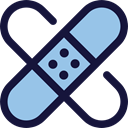 medical, Plaster, band-aid, Wound, Sticking, Sticking-plaster, Healthcare And Medical MidnightBlue icon