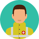 job, profession, Occupation, Medical Assistance, Professions And Jobs, user, Avatar, hospital, people LightSeaGreen icon