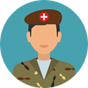 Avatar, job, Social, soldier, profession, Occupation, Militar, Professions And Jobs, user, profile CadetBlue icon