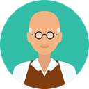 Man, people, user, Avatar, job, teacher, physician, scientist, profession, Occupation, Professions And Jobs LightSeaGreen icon
